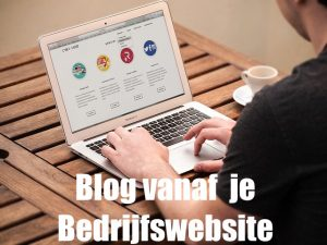 blog vanaf je bedrijfswebiste