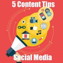 content tips social media